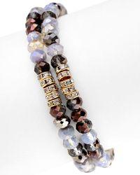 Saachi - Metallic Set Of 2 Stretch Bracelets - Lyst