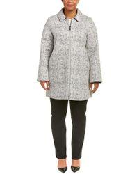 Marina Rinaldi - Gray Voyage Wool-blend Coat - Lyst