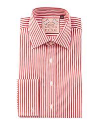 Thomas Pink Red Algernon Slim Fit Dress Shirt for men