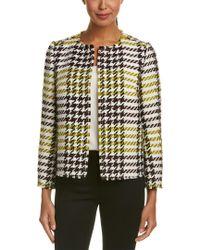Lafayette 148 New York White Dani Wool-blend Jacket