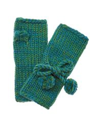 Portolano - Fall In Glove By Women's Green Wool-blend Gloves - Lyst