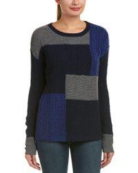 Velvet By Graham & Spencer | Blue Michaela Wool-blend Sweater | Lyst