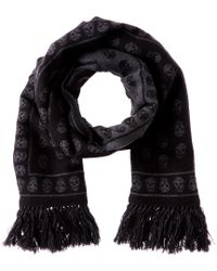 6ca16080ba1f Alexander McQueen. Women s Black Wool   Silk-blend Upside Down Skull Scarf