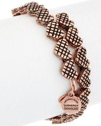 ALEX AND ANI - Multicolor Romance Hearts Wrap Expandable Wire Bangle - Lyst