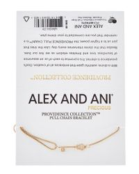 ALEX AND ANI - Metallic Providence Collection 14k Plated Skeleton Key Pull Chain Bracelet - Lyst
