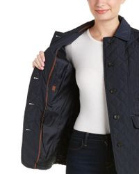 Jones New York - Blue Quilted Jacket - Lyst