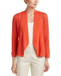 NIC+ZOE Red Linen-blend Cardigan