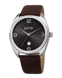 August Steiner Multicolor Men's Genuine Leather Watch for men