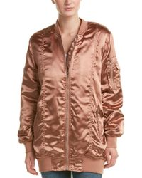 Cotton Candy - Multicolor Ruched Bomber Jacket - Lyst