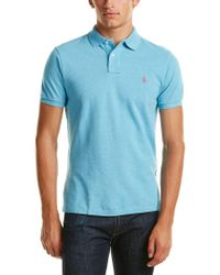 Ralph Lauren - Blue Polo Custom Fit Polo Shirt for Men - Lyst