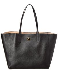 MCM - Black Wandel Reversible Leather Tote - Lyst