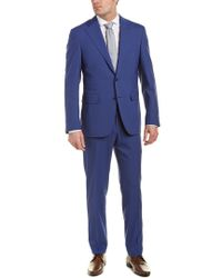 Canali - Blue Wool Suit With Flat Pant for Men - Lyst