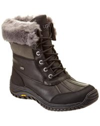 Ugg - Black Women's Adirondack Ii Waterproof Leather Boot - Lyst