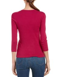 Three Dots Pink Essential Playgirl Scoop Neck Top