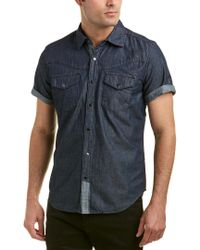 Blank NYC - Blue Woven Shirt for Men - Lyst