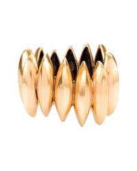 Oscar de la Renta - Metallic Russian Gold Disk Bracelet - Lyst