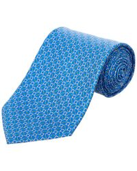 Ferragamo - Blue Gancio Silk Tie for Men - Lyst