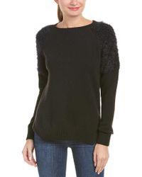 Anine Bing - Black Anine Bing Fuzzy Shoulder Wool-blend Sweater - Lyst