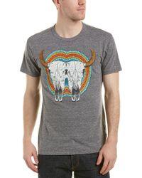 Chaser Gray Reflected Cowskull T-shirt for men