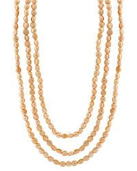 Splendid - Metallic 5-6mm Freshwater Pearl 100in Necklace - Lyst