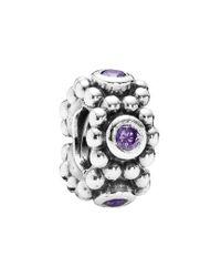 Pandora - Metallic Silver Cz Her Majesty Spacer Charm - Lyst