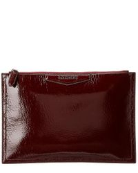 Givenchy - Red Medium Antigona Leather Clutch - Lyst