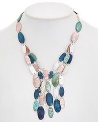 Robert Lee Morris - Multicolor Iridescences Plated Cz Frontal Necklace - Lyst