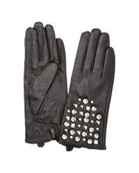 La Fiorentina - Women's Black Leather Tech Gloves - Lyst