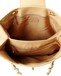 Chanel - Natural Beige Caviar Leather Large Tote - Lyst