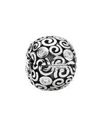 Pandora - Metallic Silver Wind Cz Clip - Lyst