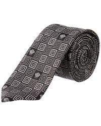 Versace - Multicolor Grey & Black Silk Tie for Men - Lyst