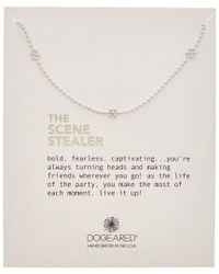 Dogeared - Metallic Silver The Scene Stealer Necklace - Lyst