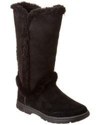 Ugg - Black Women's Katia Waterproof Suede Tall Boot - Lyst