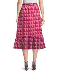 Banjanan - Multicolor Cass Printed Midi Skirt - Lyst