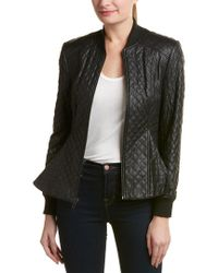 BCBGMAXAZRIA - Black Quilted Jacket - Lyst
