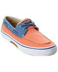 Sperry Top-Sider Orange Men's Halyard 2-eye Boat Shoe for men