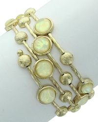 Sparkling Sage - Metallic Plated Resin Bracelet - Lyst