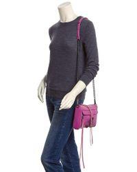 Rebecca Minkoff - Pink Mini Mac Leather Crossbody - Lyst