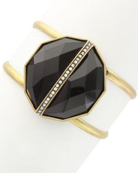 Sparkling Sage - Black 14k Plated Resin Cuff - Lyst
