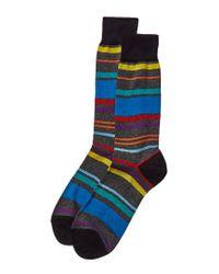 Paul Smith Gray Artist Stripe Socks for men