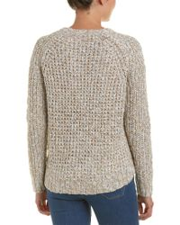 Michael Stars - White High-low Crop Sweater - Lyst