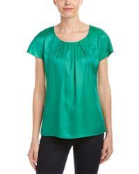 Boden - Green Silk-blend Top - Lyst