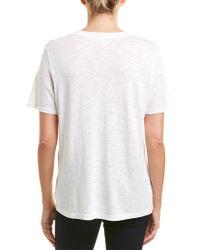 Splendid - Green Slub V-neck Tee (black) Women's T Shirt - Lyst