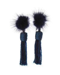Mignonne Gavigan - Blue Mini Jackie Plated Earrings - Lyst