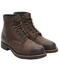 Frye - Brown Men's Arkansas Leather Mid Boot for Men - Lyst