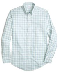 Brooks Brothers - Blue Weft Check Woven Shirt for Men - Lyst