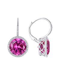 Diana M - Purple 14k 11.10 Ct. Tw. Diamond & Topaz Earrings - Lyst