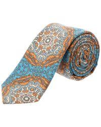 Original Penguin - Blue Turquoise Paisley Tie for Men - Lyst