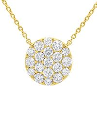 Diana M - Metallic . Fine Jewelry 14k 0.99 Ct. Tw. Diamond Necklace - Lyst