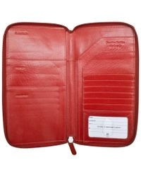 Ili - Red Leather Zip Around Leather Travel Wallet - Lyst